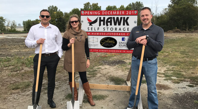 Hawk Self Storage Ground Breaking