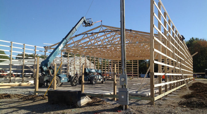 Phase One of Montgomery County Highway Garage Framing Completed